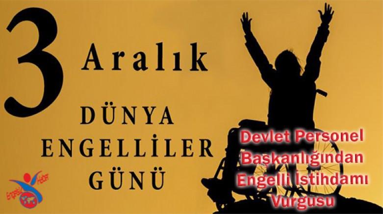 DPB'den Engelli İstihdamı Vurgulu 3 Aralık Engelliler Günü Mesajı