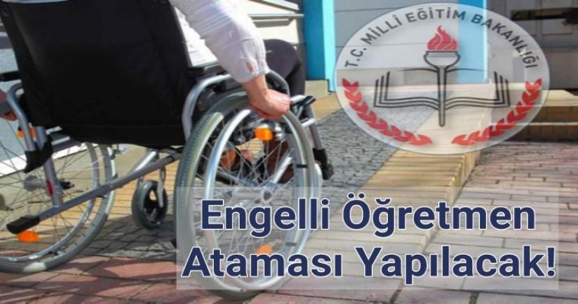 Engelli Öğretmen Atama Tercihleri İçin Geri Sayım Başladı.