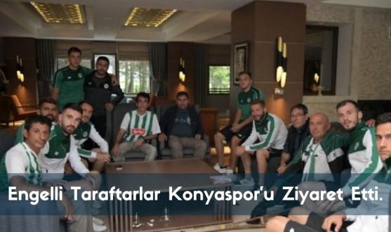 Engelli Taraftarlar Konyaspor'u Bolu'da Ziyaret Etti.