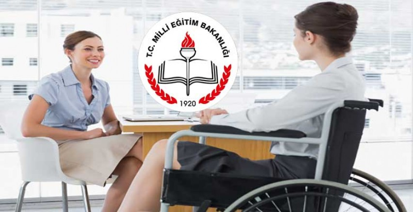 MEB Binden Fazla Engelli Personel Alıyor.