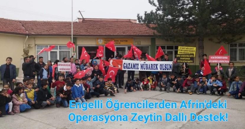Turhal'da Engelli Öğrencilerden Afrin'deki Operasyona Dev Destek...